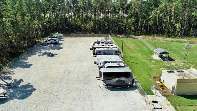 large vehicle storage lot