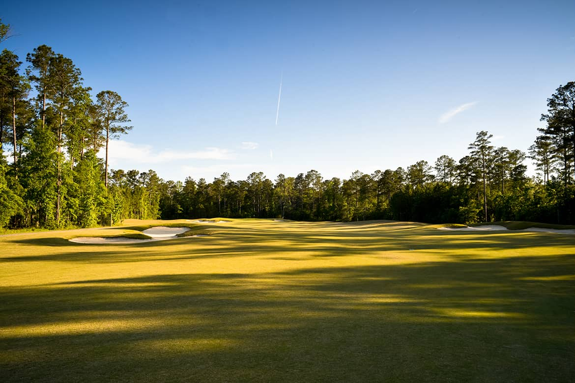 An open fairway on Carolina Colours premier golf course designed by architect Bill Love