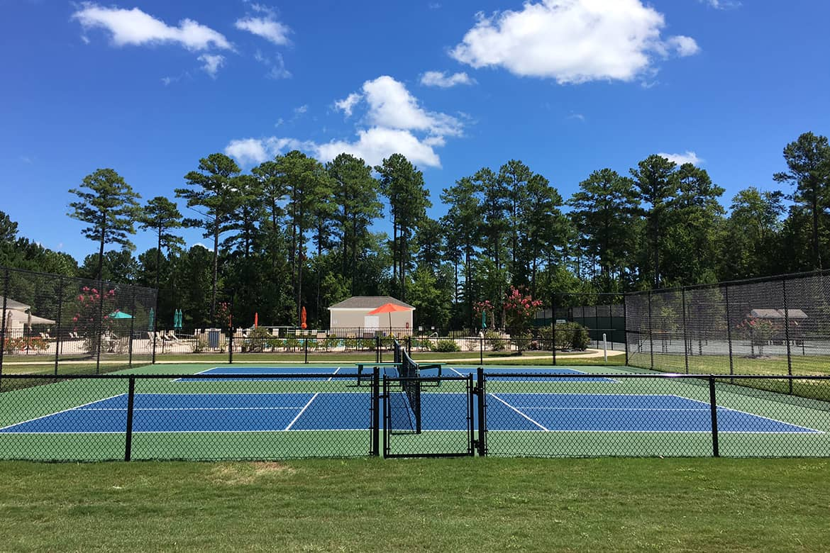 Carolina Colours private residential community pickle ball courts