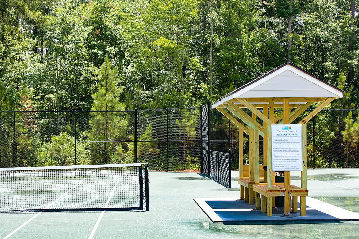 Carolina Colours private residential retirement community tennis courts